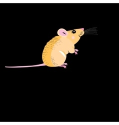 Funny petite mouse vector