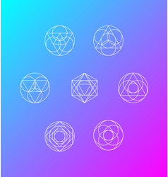geometric shapes set of 7 vector image