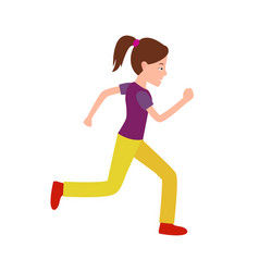 girl jogging teenager in sport apparel vector image