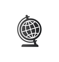 globe icon in flat design isolated on white vector image
