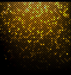 Gold mosaic square with round corners vector