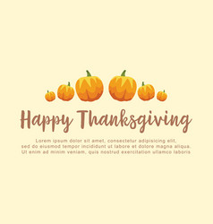 Greeting card style for thanksgiving vector