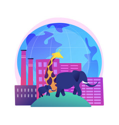 Habitat loss for wild animals abstract concept vector