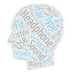 Headphone Essentials text background wordcloud vector