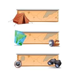 Hiking Banners Horizontal vector image
