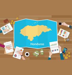honduras economy country growth nation team vector image