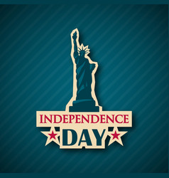 independence day background nyc usa symbol 4th vector image