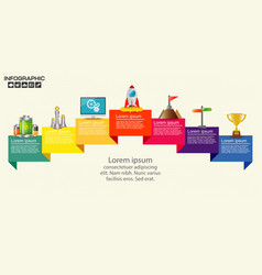infographic with business icons seven steps vector image