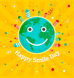 international smile day concept background flat vector image