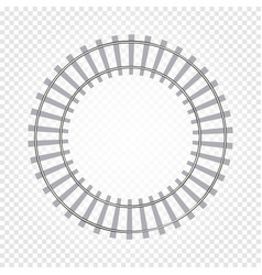 isolated abstract grey color round shape railway vector image