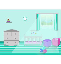 kids bedroom interior vector image