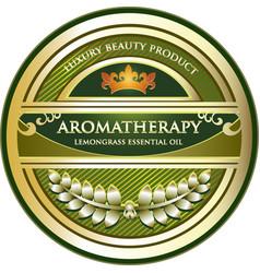 lemongrass essential oil vector image