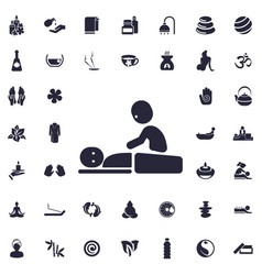 Massage icon vector