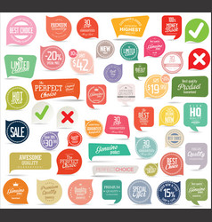 modern badges and stickers collection 2 vector image