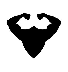 Modern concept shield and muscle icon vector