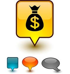 Money speech comic icons vector