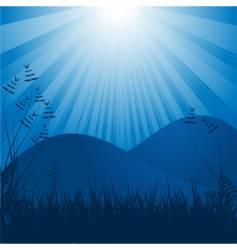 moonlit background vector image