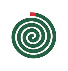 Mosquito repellent coil green spiral vector
