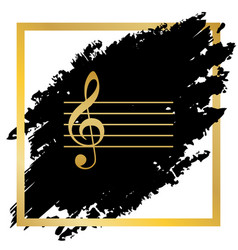 Music violin clef sign g-clef golden vector