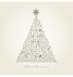 Musical christmas tree vector