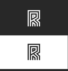 original modern logo r letter monogram black and vector image