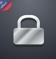 Pad Lock icon symbol 3D style Trendy modern design vector