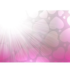 Pink color design with a hearts EPS 8 vector image