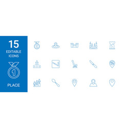 place icons vector image