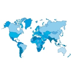 Political world blue map and vector image vector image