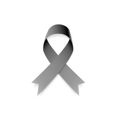 realistic awareness ribbon in black color on vector image
