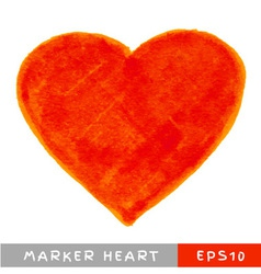 Red Felt Pen Heart vector image