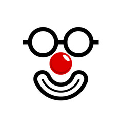 Red nose vector
