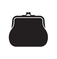 Retro purse for coins coin wallet icon vector