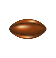 Retro rugby ball in leather design vector