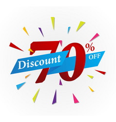 Sale discount design with ribbon vector