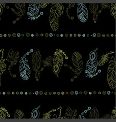 seamless horizontal pattern with lines with beads vector image