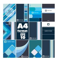 Set folder a4 form vector