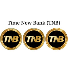 Set of physical golden coin time new bank tnb vector