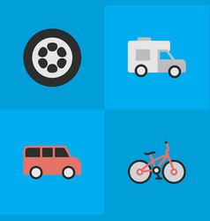 set simple shipping icons vector image