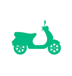 Silhouette of scooter in turquoise design vector