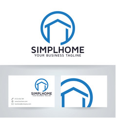 Simple home logo design vector