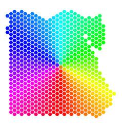 spectrum hexagon egypt map vector image