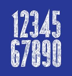 Stylish digits handwritten numerals vector image
