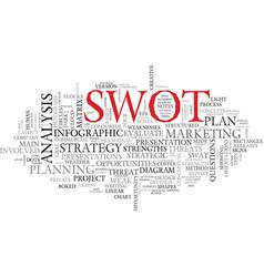 Swot word cloud concept vector
