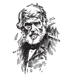 Thomas carlyle vintage vector