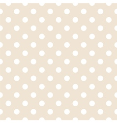 Tile pattern white polka dots on pastel background vector