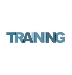 Training management business card text modern vector