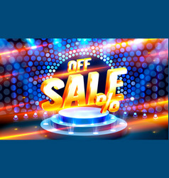 up to 10 off sale banner promotion flyer retro vector image