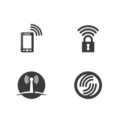 wireless logo template icon vector image