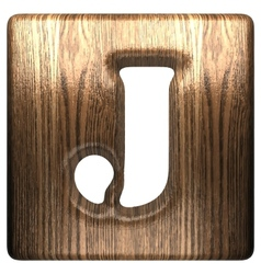 wooden figure j vector image